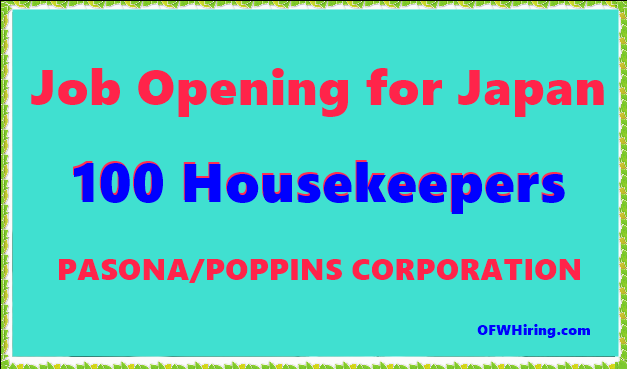 Hiring A Housekeeper housekeeper job opening for japan – ofw hiring