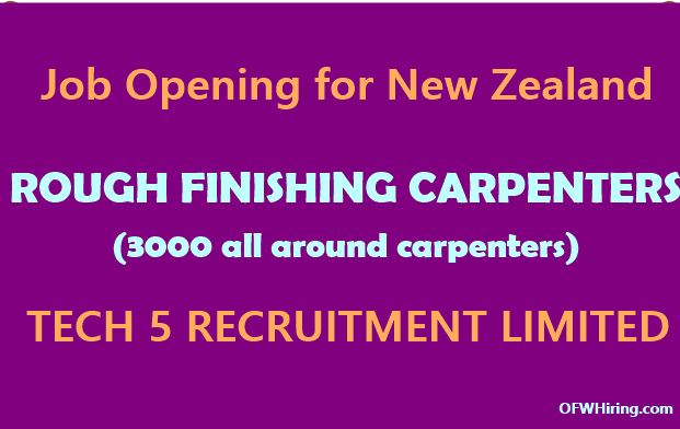 Job Hiring for New Zealand rough finishing carpenters (all around carpenters) job hiring for wiring harness jobs in abroad at mifinder.co